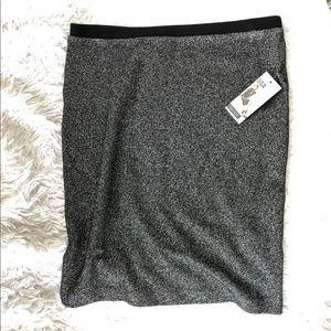 Karen Kane Black Shiny Skirt, Sz S NWT